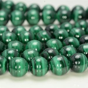 Shop Malachite Round Beads! Genuine Natural Malachite Gemstone AAA Green Round Loose Beads 15.5 inch Full Strand 4mm/6mm/8mm/10mm/12mmm (141) | Natural genuine round Malachite beads for beading and jewelry making.  #jewelry #beads #beadedjewelry #diyjewelry #jewelrymaking #beadstore #beading #affiliate #ad