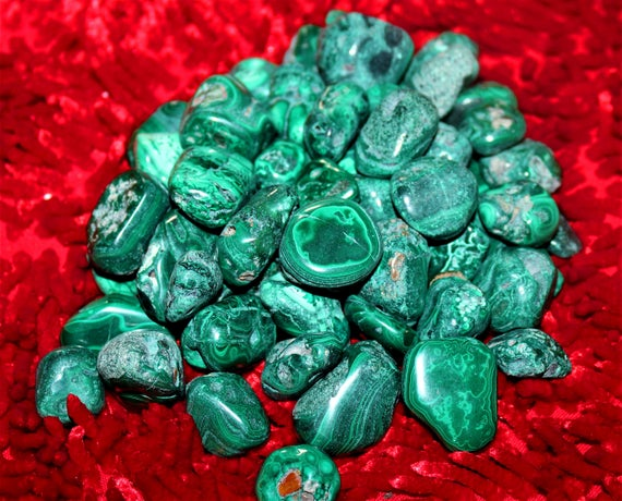 100% Pure 2nd Quality Green Malachite 100gr Healing Reiki Power Charged Tumbled