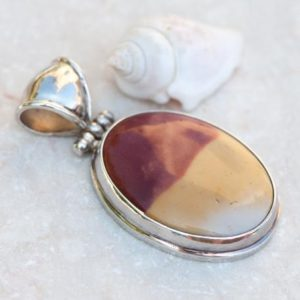 Shop Mookaite Jewelry! Natural Mookaite Pendant, 925 Sterling Silver Pendant Necklace, Merlot Burgundy and Mustard Natural Stone Drop, Gift for Her | Natural genuine Mookaite jewelry. Buy crystal jewelry, handmade handcrafted artisan jewelry for women.  Unique handmade gift ideas. #jewelry #beadedjewelry #beadedjewelry #gift #shopping #handmadejewelry #fashion #style #product #jewelry #affiliate #ad