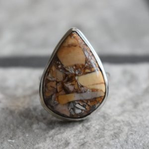 Shop Mookaite Rings! 925 Silver Natural Brecciated Ring-brecciated Gemstone Ring-brecciated Ring-mookaite Ring-handmade Ring-ring For Women-design Ring | Natural genuine Mookaite rings, simple unique handcrafted gemstone rings. #rings #jewelry #shopping #gift #handmade #fashion #style #affiliate #ad