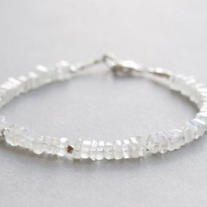 Shop Moonstone Bracelets! Moonstone Bracelet Bead Bracelet Gemstone Bracelet Stacking Bracelet Gift for Her | Natural genuine Moonstone bracelets. Buy crystal jewelry, handmade handcrafted artisan jewelry for women.  Unique handmade gift ideas. #jewelry #beadedbracelets #beadedjewelry #gift #shopping #handmadejewelry #fashion #style #product #bracelets #affiliate #ad