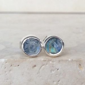 Moonstone Silver Stud Earrings, Wedding Jewellery, Raw Gemstone Silver Studs, Bridal Something Blue Earrings | Natural genuine Gemstone earrings. Buy handcrafted artisan wedding jewelry.  Unique handmade bridal jewelry gift ideas. #jewelry #beadedearrings #gift #crystaljewelry #shopping #handmadejewelry #wedding #bridal #earrings #affiliate #ad