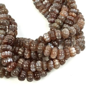 Shop Moonstone Rondelle Beads! Chocolate Moonstone Carving Rondelle Natural Beads, Moonstone Beads, Moonstone Rondelle(7-10mm) Beads, Chocolate Moonstone Natural Beads | Natural genuine rondelle Moonstone beads for beading and jewelry making.  #jewelry #beads #beadedjewelry #diyjewelry #jewelrymaking #beadstore #beading #affiliate #ad