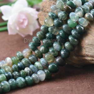 Shop Moss Agate Beads! Natural Green Landscape Moss Agate Pebbles Nuggets Beads for DIY Jewelry Craft Making | Natural genuine beads Moss Agate beads for beading and jewelry making.  #jewelry #beads #beadedjewelry #diyjewelry #jewelrymaking #beadstore #beading #affiliate #ad