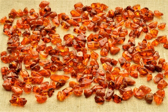 Natural Amber Beads 5-200 Grams Chip Beads (4-7mm) Jewelry Supplies Beads, Baltic Amber Beads, Polished Cognac Beads