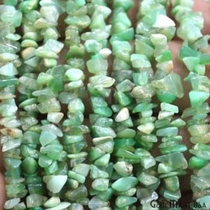 Natural Chrysoprase Chip Beads Strand, Semi Precious, Gemstone Chips, Gemstone Beads, Jewelry Making Supply, GemMartUSA (CHCP-70001) | Natural genuine chip Chrysoprase beads for beading and jewelry making.  #jewelry #beads #beadedjewelry #diyjewelry #jewelrymaking #beadstore #beading #affiliate #ad