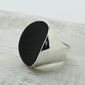 Shop Men's Gemstone Rings! Black Obsidian Stone sterling silver ring designer ring statement ring big black stone ring,protective stone ring natural black obsidian | Natural genuine Agate rings, simple unique handcrafted gemstone rings. #rings #jewelry #shopping #gift #handmade #fashion #style #affiliate #ad