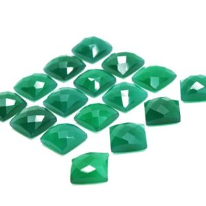 Shop Onyx Cabochons! Emerald green onyx cabochon,faceted cabochon,green gemstone,loose stones,jewelry making,diy cabochons,real stones,square cabochons sale | Natural genuine stones & crystals in various shapes & sizes. Buy raw cut, tumbled, or polished gemstones for making jewelry or crystal healing energy vibration raising reiki stones. #crystals #gemstones #crystalhealing #crystalsandgemstones #energyhealing #affiliate #ad