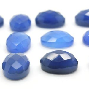 Shop Onyx Cabochons! GCF-1179 – Blue Onyx Faceted Cabochon – Oval 10x14mm – Gemstone Cabochon – AA Quality – 1 Pc | Natural genuine stones & crystals in various shapes & sizes. Buy raw cut, tumbled, or polished gemstones for making jewelry or crystal healing energy vibration raising reiki stones. #crystals #gemstones #crystalhealing #crystalsandgemstones #energyhealing #affiliate #ad