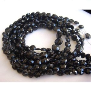 Shop Onyx Faceted Beads! Black Onyx – Black Onyx Faceted Coins – 7mm Each – 14 Inch Strand – 38 Pieces | Natural genuine faceted Onyx beads for beading and jewelry making.  #jewelry #beads #beadedjewelry #diyjewelry #jewelrymaking #beadstore #beading #affiliate #ad