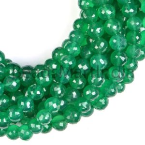 Shop Onyx Faceted Beads! Green Onyx Faceted Round Indian Cut Beads, Green Onyx Beads, Green Onyx Faceted Round(7-9mm) Cut Beads, Green Onyx Wholesale Beads | Natural genuine faceted Onyx beads for beading and jewelry making.  #jewelry #beads #beadedjewelry #diyjewelry #jewelrymaking #beadstore #beading #affiliate #ad