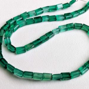 Shop Onyx Bead Shapes! 4x6mm Green Onyx Chewing Gum Cut Beads, Natural Green Onyx Rectangle Cut Beads, Green Onyx For Jewelry (6.5IN To 13IN Options) – PDG80 | Natural genuine other-shape Onyx beads for beading and jewelry making.  #jewelry #beads #beadedjewelry #diyjewelry #jewelrymaking #beadstore #beading #affiliate #ad