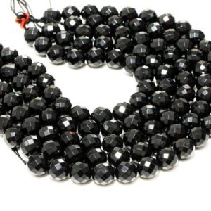 "Shop Onyx Round Beads! Black Onyx Faceted Rounds, round Beads, faceted Beads, gemstone Beads, 12mm Beads, black Beads, loose Stone Beads, aa Quality – 16"" Strand 