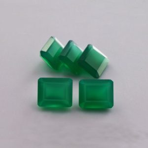 Shop Onyx Shapes! 25.88 cts Natural Green Onyx 12x10x6.5 mm Faceted Cut Octagon 5 Pieces Loose Gemstone – 100% Natural Green Onyx Gemstone – ONGRN-1014 | Natural genuine stones & crystals in various shapes & sizes. Buy raw cut, tumbled, or polished gemstones for making jewelry or crystal healing energy vibration raising reiki stones. #crystals #gemstones #crystalhealing #crystalsandgemstones #energyhealing #affiliate #ad