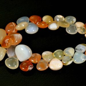 Shop Opal Bead Shapes! Natural Mexican Opal Beads 7×7.5mm to 15x16mm Heart Briolettes Smooth Gemstone Beads AA Opal Beads Semi Precious Stone 7 Inches Strand No940 | Natural genuine other-shape Opal beads for beading and jewelry making.  #jewelry #beads #beadedjewelry #diyjewelry #jewelrymaking #beadstore #beading #affiliate #ad
