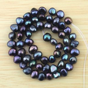 Shop Gemstone Chip & Nugget Beads! 6-7mm Peacock black pearl beads,Nugget Freshwater pearl Beads, Baroque nugget Pearls,Loose pearl beads,Pearl strand-60Pcs—15 inches–FS91 | Natural genuine chip Gemstone beads for beading and jewelry making.  #jewelry #beads #beadedjewelry #diyjewelry #jewelrymaking #beadstore #beading #affiliate #ad