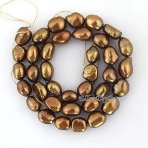 Freshwater Nugget Pearl Beads, brown Pearl Beads, one Full Strand, jewelry Making Pearl Beads, Wholesale Baroque –36 Pcs–14 Inches–bp007 | Natural genuine chip Pearl beads for beading and jewelry making.  #jewelry #beads #beadedjewelry #diyjewelry #jewelrymaking #beadstore #beading #affiliate #ad