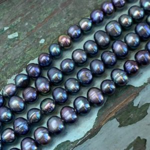 Shop Pearl Bead Shapes! Peacock Freshwater Pearl oval beads Blue Green Teal Pink Purply  Two tone 6-7mm apx / Ocean Beads / Pirate beads / June Birthstone | Natural genuine other-shape Pearl beads for beading and jewelry making.  #jewelry #beads #beadedjewelry #diyjewelry #jewelrymaking #beadstore #beading #affiliate #ad
