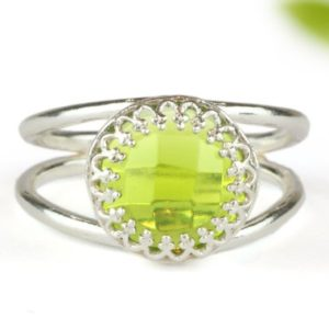 Shop Peridot Rings! Green Peridot Ring, august Birthstone Ring, delicate Cocktail Ring, solitaire Rings, sterling Silver Ring, gemstone Rings | Natural genuine Peridot rings, simple unique handcrafted gemstone rings. #rings #jewelry #shopping #gift #handmade #fashion #style #affiliate #ad