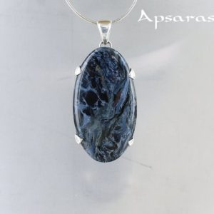 Shop Pietersite Pendants! Blue pietersite pendant, sterling silver, natural stone, quality made jewelry, handmade, quality stone, one of kind,shimmering stone,for men | Natural genuine Pietersite pendants. Buy handcrafted artisan men's jewelry, gifts for men.  Unique handmade mens fashion accessories. #jewelry #beadedpendants #beadedjewelry #shopping #gift #handmadejewelry #pendants #affiliate #ad