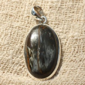 Shop Pietersite Pendants! N2 – Pietersite oval 36x20mm and 925 Sterling Silver Pendant | Natural genuine Pietersite pendants. Buy crystal jewelry, handmade handcrafted artisan jewelry for women.  Unique handmade gift ideas. #jewelry #beadedpendants #beadedjewelry #gift #shopping #handmadejewelry #fashion #style #product #pendants #affiliate #ad
