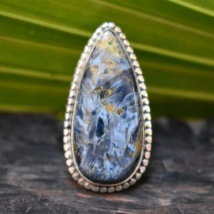 Shop Pietersite Rings! 925 silver natural pietersite ring-pietersite ring-pietersite-pietersite design ring-handmade pietersite ring | Natural genuine Pietersite rings, simple unique handcrafted gemstone rings. #rings #jewelry #shopping #gift #handmade #fashion #style #affiliate #ad