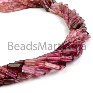 Pink Tourmaline Shaded Pipe Shape Beads, Pink Tourmaline Beads, Pink Tourmaline Tube Beads,Tourmaline Shaded Beads, Pink Tourmaline | Natural genuine other-shape Gemstone beads for beading and jewelry making.  #jewelry #beads #beadedjewelry #diyjewelry #jewelrymaking #beadstore #beading #affiliate #ad