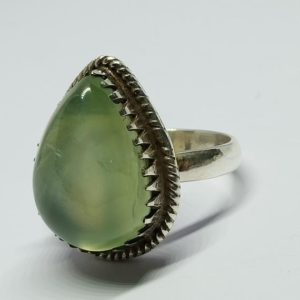 Shop Prehnite Rings! Prehnite Ring, natural Prehnite Ring Green Prehnite Gemstone Ring 925 Sterling Silver Ring, natural Prehnite Ring, teardrop Ring, handmade Ring | Natural genuine Prehnite rings, simple unique handcrafted gemstone rings. #rings #jewelry #shopping #gift #handmade #fashion #style #affiliate #ad