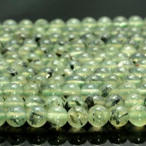 Shop Prehnite Round Beads! 6mm Prehnite Gemstone Green Grade A Round Beads 7.5 Inch Half Strand (80007375 H-A258) | Natural genuine round Prehnite beads for beading and jewelry making.  #jewelry #beads #beadedjewelry #diyjewelry #jewelrymaking #beadstore #beading #affiliate #ad