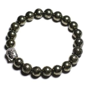 Buddha and gemstone – Pyrite bracelet | Natural genuine Gemstone bracelets. Buy crystal jewelry, handmade handcrafted artisan jewelry for women.  Unique handmade gift ideas. #jewelry #beadedbracelets #beadedjewelry #gift #shopping #handmadejewelry #fashion #style #product #bracelets #affiliate #ad