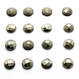 Shop Pyrite Stones & Crystals! Round pyrite cabochon,6mm,8mm,10mm,16mm cabochons,gemstone cabochons,faceted cabochon,gray gemstone, AA Quality Cab | Natural genuine stones & crystals in various shapes & sizes. Buy raw cut, tumbled, or polished gemstones for making jewelry or crystal healing energy vibration raising reiki stones. #crystals #gemstones #crystalhealing #crystalsandgemstones #energyhealing #affiliate #ad