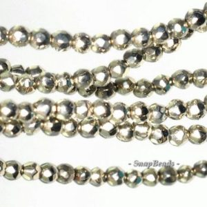 Shop Pyrite Beads! 2MM Palazzo Iron Pyrite Gemstone Grade AA Faceted Round 2MM Loose Beads 16 inch Full Strand (90114687-147) | Natural genuine beads Pyrite beads for beading and jewelry making.  #jewelry #beads #beadedjewelry #diyjewelry #jewelrymaking #beadstore #beading #affiliate #ad