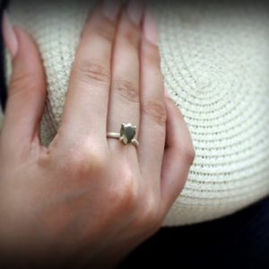 Shop Pyrite Rings! Sterling silver ring,gemstone ring,holiday gift,birthday gift,pyrite ring,silver stone ring,teardrop ring,pear ring | Natural genuine Pyrite rings, simple unique handcrafted gemstone rings. #rings #jewelry #shopping #gift #handmade #fashion #style #affiliate #ad