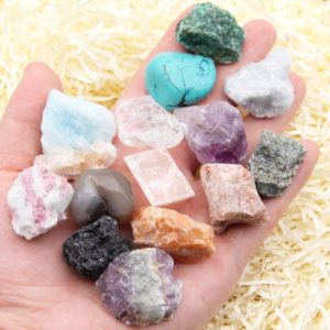 Shop Quartz Crystal Beads! Natural Crystal 15 Pcs Chakra Protection Healing Sets,Rough Crystal Quartz,Natural Rough & Tumbled Crystal Specimens,Energe Crystal Set.(C) | Natural genuine beads Quartz beads for beading and jewelry making.  #jewelry #beads #beadedjewelry #diyjewelry #jewelrymaking #beadstore #beading #affiliate #ad