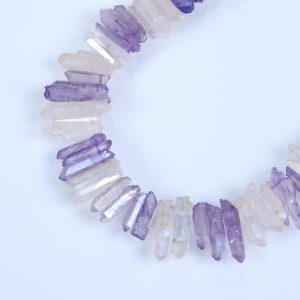 Shop Quartz Crystal Bead Shapes! Natural Crystal Quartz Point Beads.Mix Color Crystal Quartz Point. Bright Crystal Beads.Good Quality Crystal Point Beads.Top Drilled Beads | Natural genuine other-shape Quartz beads for beading and jewelry making.  #jewelry #beads #beadedjewelry #diyjewelry #jewelrymaking #beadstore #beading #affiliate #ad