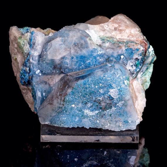 Shattukite, Dioptase In Quartz, Raw Crystal Cluster - Housewarming Gift, Home Decor, Raw Crystals And Stones, 39738