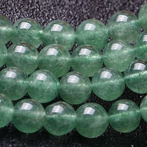Shop Quartz Crystal Round Beads! Natural Green Strawberry Crystal Quartz Round Beads,Starwberry Quartz Wholesale Beads Supply,15 inches one starand | Natural genuine round Quartz beads for beading and jewelry making.  #jewelry #beads #beadedjewelry #diyjewelry #jewelrymaking #beadstore #beading #affiliate #ad