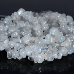 Shop Rainbow Moonstone Beads! 7-8MM  Rainbow Moonstone Gemstone Pebble Nugget Chip Loose Beads 34 inch  (80001795-A18) | Natural genuine beads Rainbow Moonstone beads for beading and jewelry making.  #jewelry #beads #beadedjewelry #diyjewelry #jewelrymaking #beadstore #beading #affiliate #ad