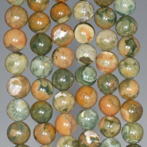 Shop Rainforest Jasper Beads! 10MM  Rhyolite Gemstone Round Loose Beads 7.5 inch Half Strand (80000435 H-A69) | Natural genuine round Rainforest Jasper beads for beading and jewelry making.  #jewelry #beads #beadedjewelry #diyjewelry #jewelrymaking #beadstore #beading #affiliate #ad