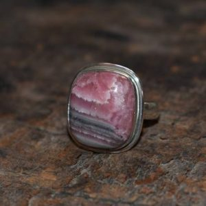 Shop Rhodochrosite Rings! rhodochrosite ring,natural rhodochrosite ring,925 silver ring,rhodochrosite gemstone ring,gemstone ring | Natural genuine Rhodochrosite rings, simple unique handcrafted gemstone rings. #rings #jewelry #shopping #gift #handmade #fashion #style #affiliate #ad