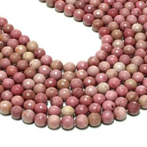 """AA Quality Rhodonite beads,gemstone beads,jewelry making diy,wholesale beads bulk,faceted beads,8mm beads – 16"""" Strand 