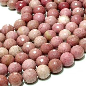 "Unique Rhodonite beads,wholesale beads,faceted beads,round beads,large 12mm beads,handmade jewelry supplies – 16"" Strand 