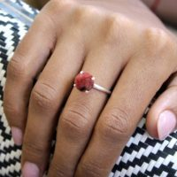 Rhodonite Ring, cocktail Ring, silver Ring, simple Ring, everyday Ring, casual Ring, prong Setting Ring, pink Ring   Natural genuine Gemstone jewelry. Buy crystal jewelry, handmade handcrafted artisan jewelry for women.  Unique handmade gift ideas. #jewelry #beadedjewelry #beadedjewelry #gift #shopping #handmadejewelry #fashion #style #product #jewelry #affiliate #ad