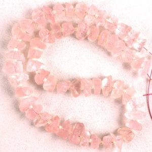 AAA Quality 50 Pieces Natural Rose Quartz Rough,6-8 mm,Rose Quartz Gemstone,Pink Color,Making Jewelry,Drilled Raw,Rose Quartz Raw,Wholesale | Natural genuine chip Rose Quartz beads for beading and jewelry making.  #jewelry #beads #beadedjewelry #diyjewelry #jewelrymaking #beadstore #beading #affiliate #ad