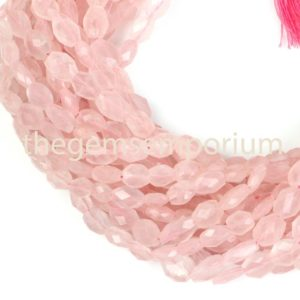 Shop Rose Quartz Faceted Beads! Rose Quartz Faceted Oval Gemstone Beads, Natural Faceted Oval Gemstone Beads, Gemstone Oval Gemstone Beads, AA Quality | Natural genuine faceted Rose Quartz beads for beading and jewelry making.  #jewelry #beads #beadedjewelry #diyjewelry #jewelrymaking #beadstore #beading #affiliate #ad