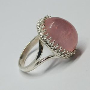 Shop Rose Quartz Rings! Rose Quartz Ring,Pink Rose Quartz Ring,sterling Silver Ring,Statement Ring, Boho Ring,quartz Gemstone Birthstone ring,Valentine Gift HER | Natural genuine Rose Quartz rings, simple unique handcrafted gemstone rings. #rings #jewelry #shopping #gift #handmade #fashion #style #affiliate #ad