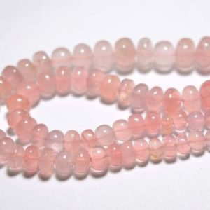 Shop Rose Quartz Rondelle Beads! 9 Inches Strand Natural Rose Quartz Rondelles 6mm to 14mm Smooth Rondelle Gemstone AA Rose Quartz Beads Semi Precious Stone No2607 | Natural genuine rondelle Rose Quartz beads for beading and jewelry making.  #jewelry #beads #beadedjewelry #diyjewelry #jewelrymaking #beadstore #beading #affiliate #ad