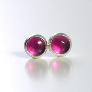 Shop Ruby Earrings! pink lab ruby corundum 4mm sterling silver stud earrings pair | Natural genuine Ruby earrings. Buy crystal jewelry, handmade handcrafted artisan jewelry for women.  Unique handmade gift ideas. #jewelry #beadedearrings #beadedjewelry #gift #shopping #handmadejewelry #fashion #style #product #earrings #affiliate #ad