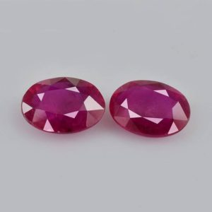 Shop Ruby Shapes! 1.77 cts Natural Ruby 7x5x2.6 mm Faceted Cut Oval 2 PC Precious Loose Gemstone , 100% Natural Ruby Gemstone, Ruby Matching Pair – RGRED-1098 | Natural genuine stones & crystals in various shapes & sizes. Buy raw cut, tumbled, or polished gemstones for making jewelry or crystal healing energy vibration raising reiki stones. #crystals #gemstones #crystalhealing #crystalsandgemstones #energyhealing #affiliate #ad