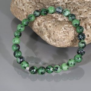 Shop Ruby Zoisite Bracelets! Ruby Zoisite Bracelet, Ruby Zoisite Jewelry, Stretch Bracelet, Ruby Zoisite Bead, 5mm Ruby Zoisite gemstone bracelet, Christmas Gift for her | Natural genuine Ruby Zoisite bracelets. Buy crystal jewelry, handmade handcrafted artisan jewelry for women.  Unique handmade gift ideas. #jewelry #beadedbracelets #beadedjewelry #gift #shopping #handmadejewelry #fashion #style #product #bracelets #affiliate #ad
